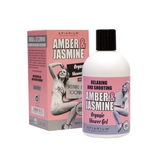 Amber and Jasmine Organic Shower Gel 300ml/ Αφρόλουτρο με Κεχριμπάρι και Γιασεμί 300ml