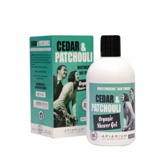 Cedar and Patchouli Organic Shower Gel 300ml/ Αφρόλουτρο με Κέδρο και Πατσουλί 300ml