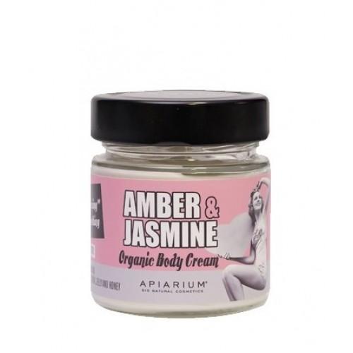 Amber and Jasmine Organic Body Cream 200ml /  Κρέμα Σώματος με Κεχριμπάρι και Γιασεμί 200ml