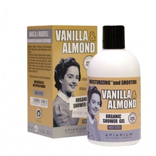Vanilla and Almond Organic Shower Gel / Αφρόλουτρο με Βανίλια και Αμύγδαλο