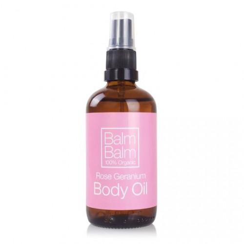 Rose Geranium Body Oil / Χαλαρωτικό Έλαιο Σώματος με Έλαιο Γερανιού και Λεβάντα