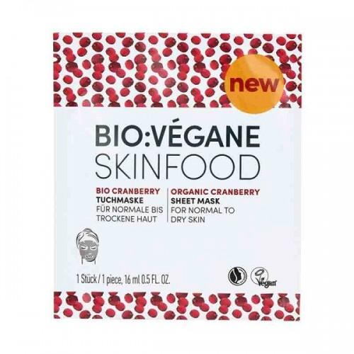Organic Cranberry Sheet Mask / Ενυδατική Μάσκα Προσώπου  με Cranberry για Ξηρό Δέρμα