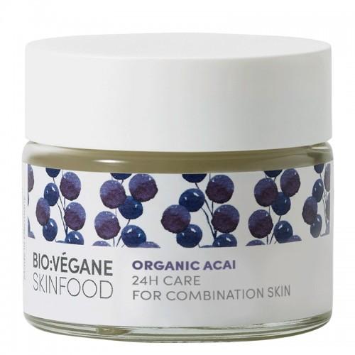 Organic Acai 24h Care / Ενυδατική Κρέμα Προσώπου  με Acai Berry  για Μικτό Δέρμα