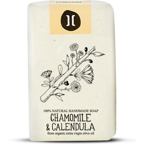 Natural Soap Chamomile and Calendula / Φυσικό Χειροποίητο Σαπούνι με Χαμομήλι και Καλέντουλα