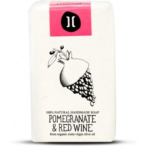Natural Soap Pomegranate and Red Wine / Φυσικό Χειροποίητο Σαπούνι με Ρόδι και Κόκκινο Κρασί