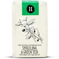 Natural Soap Spirulina and Green Tea / Φυσικό Χειροποίητο Σαπούνι με Σπιρουλίνα και Πράσινο Τσάι