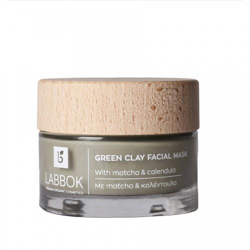 Green Clay Facial Mask 50ml / Πράσινη Μάσκα Άργιλου με Μάτσα και Καλέντουλα 50ml
