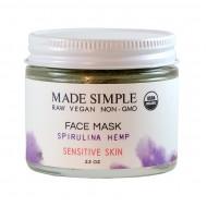 Face Mask Spirulina Hemp 65gr/  Μάσκα Αναζωογόνησης Προσώπου για Ευαίσθητο Δέρμα με Σπιρουλίνα και Κάνναβη 65gr