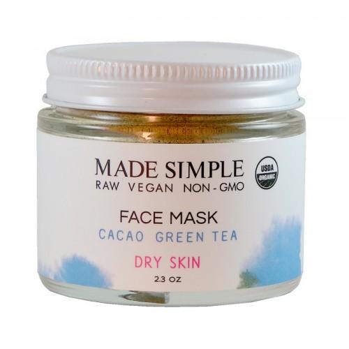 Face Mask Cacao Green Tea 65gr /  Μάσκα Ανανέωσης Προσώπου για Ξηρό Δέρμα με Κακάο και Πράσινο Τσάι 65gr