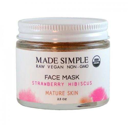 Face Mask Strawberry Hibiscus 65gr/ Αντιγηραντική Μάσκα Προσώπου για Ώριμο Δέρμα με Ιβίσκο και Φράουλα 65gr