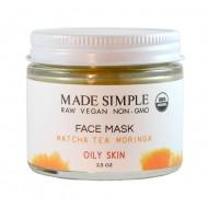 Αντιγηραντική Μάσκα Προσώπου για Λιπαρό  Δέρμα με Moringa και Τσάι Matcha