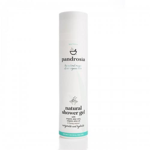 Natural Shower Gel / Φυσικό Αφρόλουτρο με Βιολογική Αλόη  και Μέλι