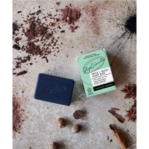 Chocolate Charcoal Chai Soap 100gr / Φυσικό Σαπούνι με Κακάο και Ενεργό Άνθρακα 100gr