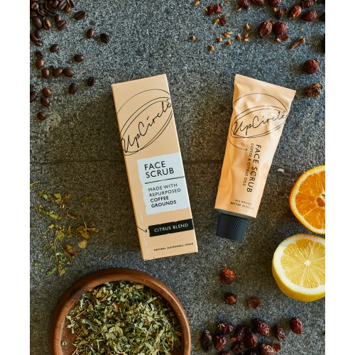 Coffee Face Scrub Citrus Blend 100ml / Scrub Προσώπου από Κόκκους Καφέ  με Έλαιο Πορτοκαλιού 100ml