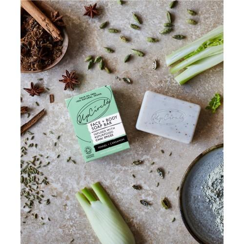 Fennel and Cardamom Chai Soap 100gr / Φυσικό Σαπούνι με Μάραθο και Κάρδαμο 100gr