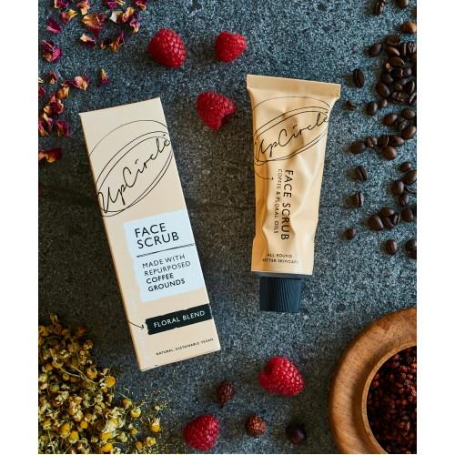Coffee Face Scrub Floral  Blend 100ml / Scrub Προσώπου από Κόκκους Καφέ  με Έλαιο Χαμομηλιού 100ml